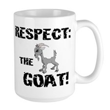 RESPECT the GOAT for Men Large Mug