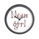Mean Grrl Wall Clock