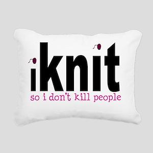 iknit_ont Rectangular Canvas Pillow