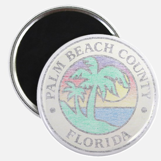 Vintage Palm Beach County Magnet