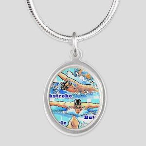 ASwimBoys Silver Oval Necklace