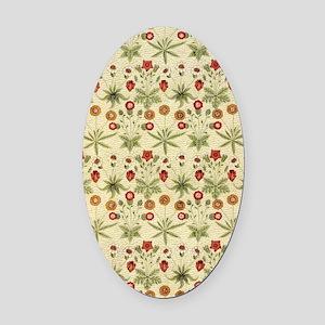 Flower Garden Tapestry Oval Car Magnet