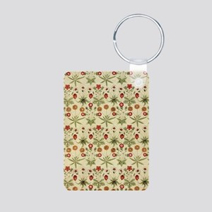 Flower Garden Tapestry Aluminum Photo Keychain