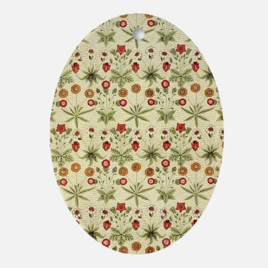 Flower Garden Tapestry Oval Ornament