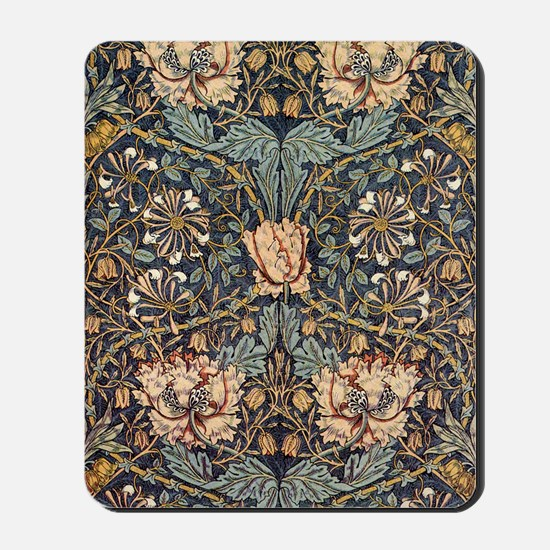 Art Nouveau Blue Vines Mousepad