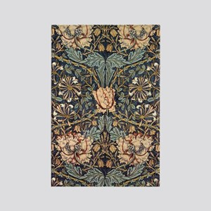 Art Nouveau Blue Vines Rectangle Magnet