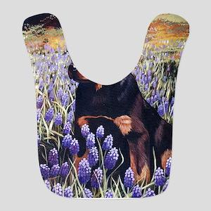 Rottweiler Pup in Flowers Bib
