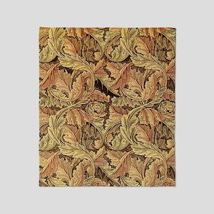 Art Nouveau Autumn Leaves Throw Blanket