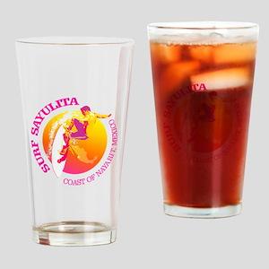 Surf Sayulita Drinking Glass
