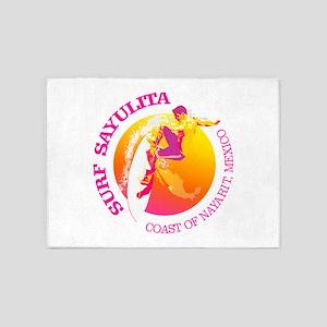 Surf Sayulita 5'x7'Area Rug