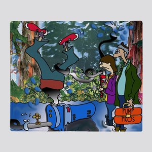 2-8319_pump_cartoon Throw Blanket