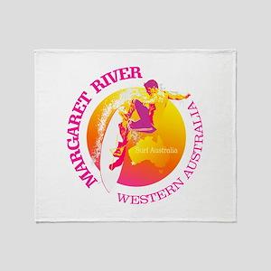 Surf Margaret River Throw Blanket