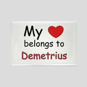 My heart belongs to demetrius Rectangle Magnet