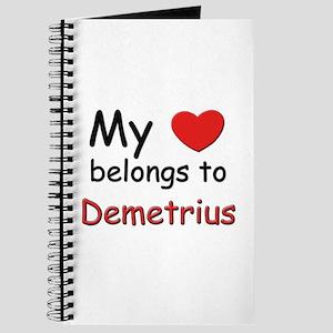 My heart belongs to demetrius Journal