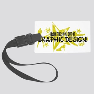 GRAPHIC DESIGN Large Luggage Tag