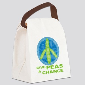 peasChance Canvas Lunch Bag