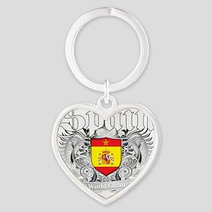 spain champions aaa Heart Keychain