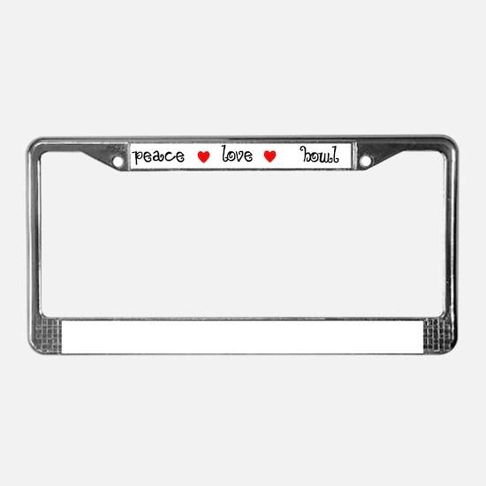 light_peace_howl License Plate Frame