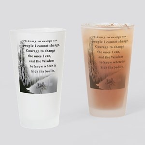 2-TWUSTED SERENITY Drinking Glass