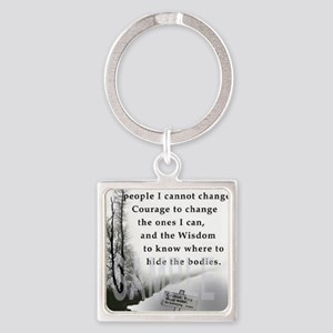 2-TWUSTED SERENITY Square Keychain