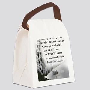 2-TWUSTED SERENITY Canvas Lunch Bag