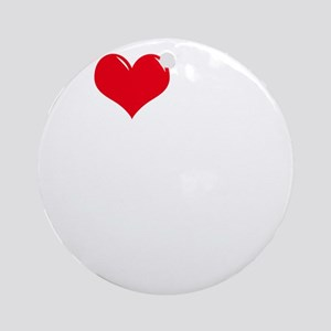 I-Love-My-Golden-Doodle-dark Round Ornament