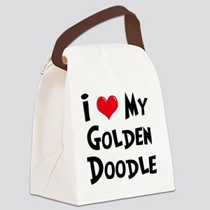 I-Love-My-Golden-Doodle Canvas Lunch Bag