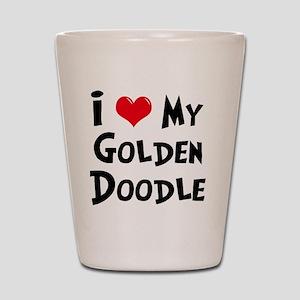 I-Love-My-Golden-Doodle Shot Glass