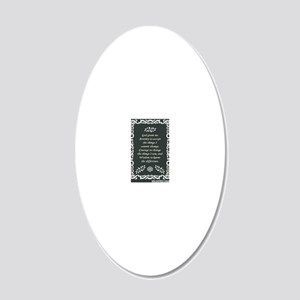 SERENITY POSTER 20x12 Oval Wall Decal