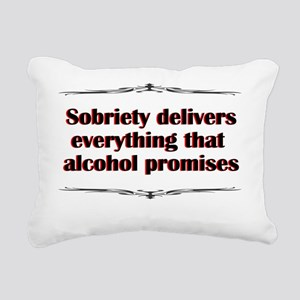 sobriety-delivers Rectangular Canvas Pillow