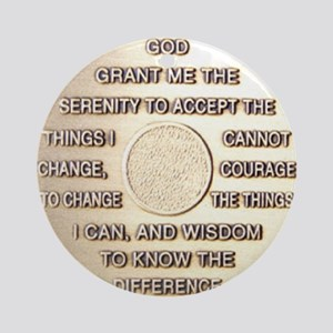 COIN SERENITY Round Ornament