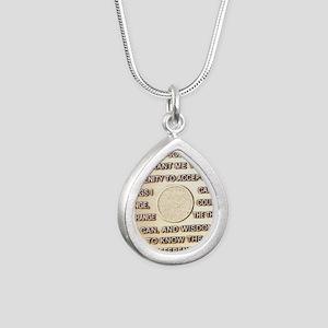 COIN SERENITY Silver Teardrop Necklace