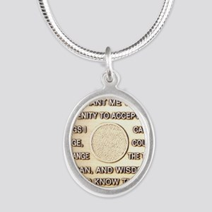 COIN SERENITY Silver Oval Necklace