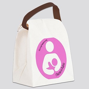 roundbfsymbol copy Canvas Lunch Bag
