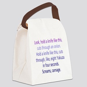 spencerquote1-trans Canvas Lunch Bag