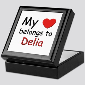 My heart belongs to delia Keepsake Box