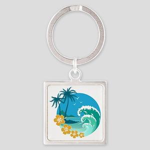 Beach1 Square Keychain