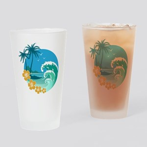 Beach1 Drinking Glass