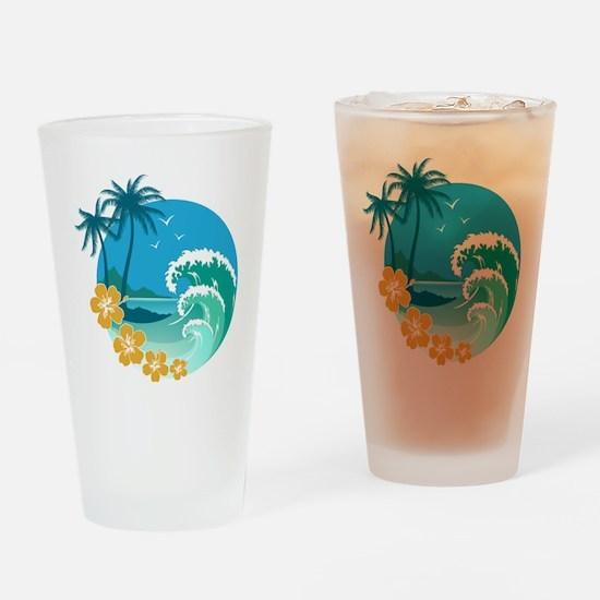 Beach1 Drinking Glass