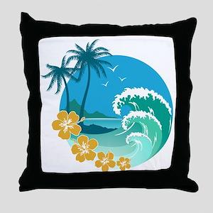 Beach1 Throw Pillow