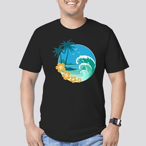 Beach1 Men's Fitted T-Shirt (dark)