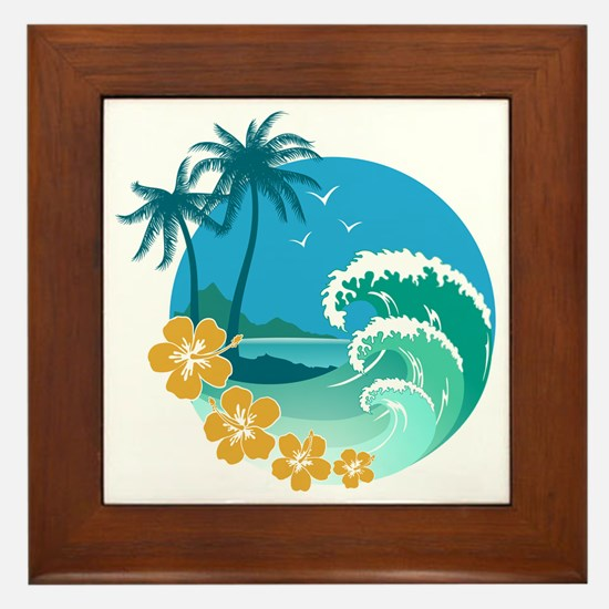 Beach1 Framed Tile