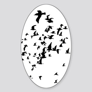 Birds Sticker (Oval)