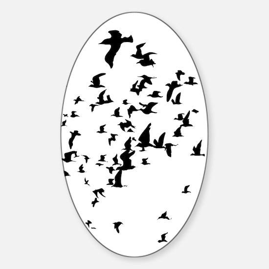 Birds Sticker (Oval)