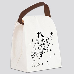 Birds Canvas Lunch Bag