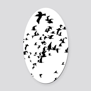 Birds Oval Car Magnet