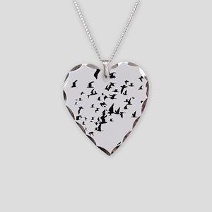 Birds Necklace Heart Charm