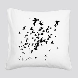 Birds Square Canvas Pillow