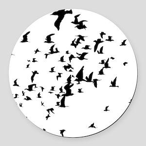Birds Round Car Magnet