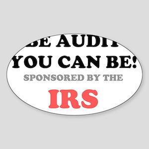 BE AUDIT IRS USA Sticker (Oval)